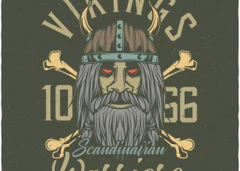 Vikings warriors. Vector T-Shirt Design buy t shirt design