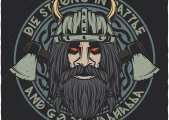 Vikings valhalla. Vector T-Shirt Design buy t shirt design