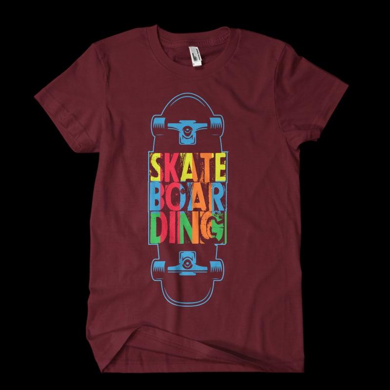 Vector t-shirt SKATE BOARDING ONE buy t shirt design