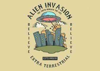 Alien Attack Vector t-shirt design buy t shirt design