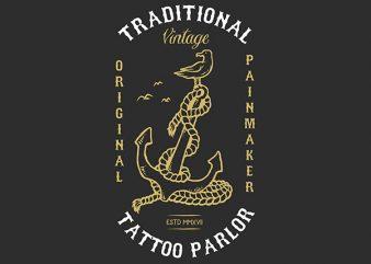 Anchor Bird Graphic t-shirt design buy t shirt design