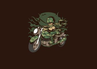 Army Motorcycle Ride Graphic t-shirt