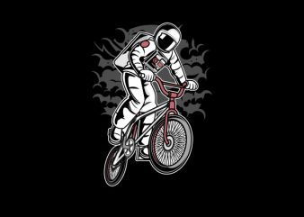 Astronaut Bike Graphic t-shirt design t shirt vector