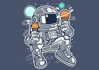 Astronaut Ice Cream Vector t-shirt design buy t shirt design