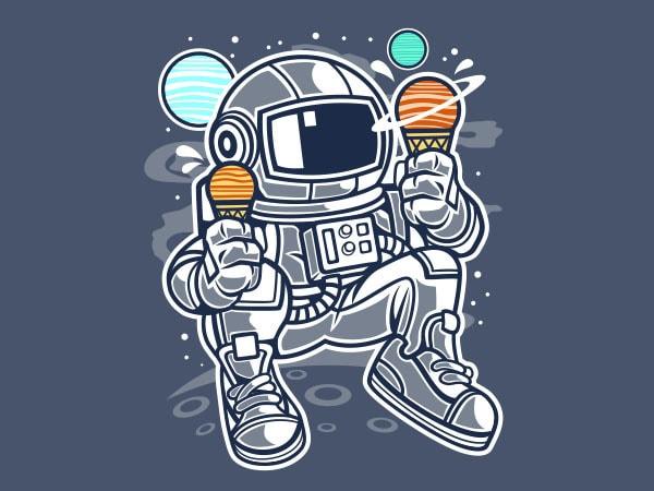 Astronaut Ice Cream Vector t-shirt design