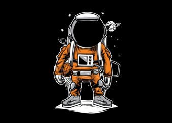 Astronaut Basket Ball T-Shirt Design buy t shirt design
