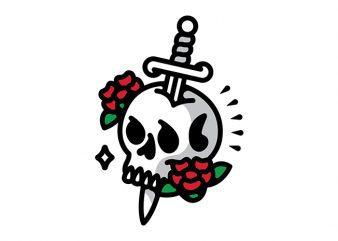 Death Flower Tattoo buy t shirt design