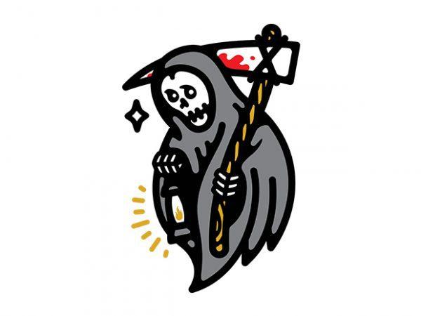 Grim Lantern t shirt design template