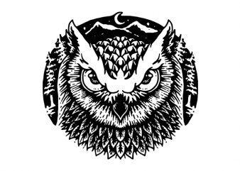 Owly t shirt design online