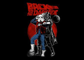 Back To The Darkside Graphic t-shirt design