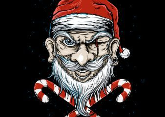 Badass Santa buy t shirt design