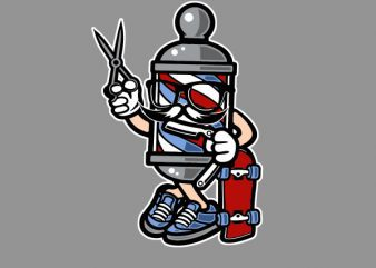 Barber Skater Vector t-shirt design buy t shirt design
