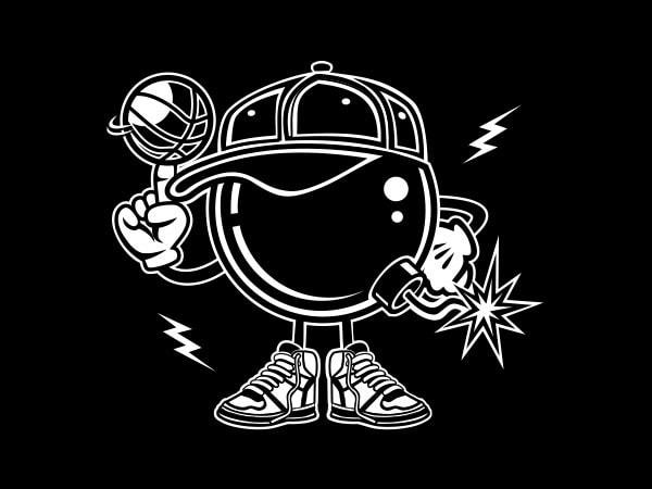 Basketball Bombers Graphic t-shirt design buy t shirt design