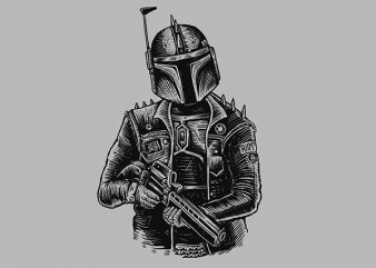 Boba Punk Vector t-shirt design buy t shirt design