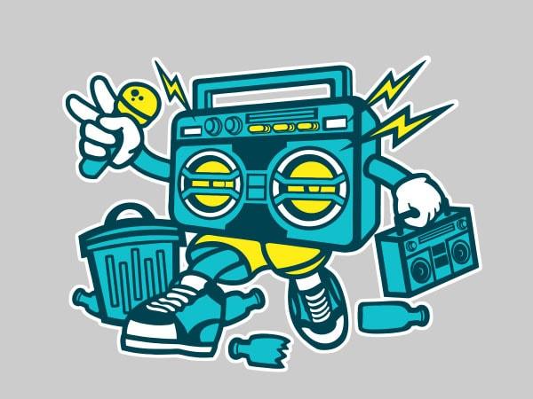 Boombox Vector t-shirt design