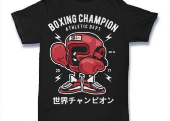 Boxing Champion Graphic t-shirt design