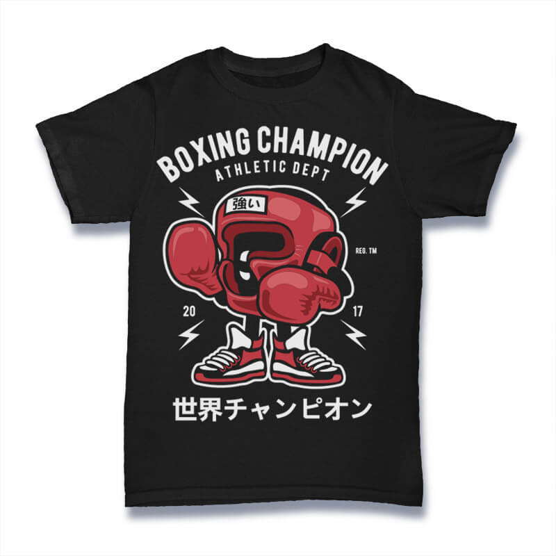 Boxing Champion Graphic t-shirt design buy t shirt design