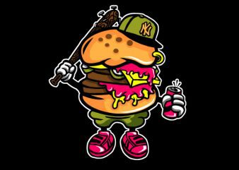 Burger Bastard Graphic t-shirt design buy t shirt design