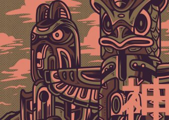 Totem Part 2 T-Shirt Design buy t shirt design