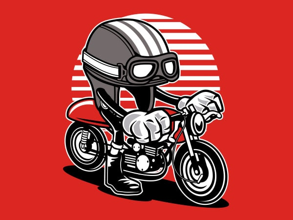 Caferacer Helmet Graphic t-shirt design buy t shirt design