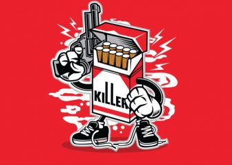 Cigarette Killer Graphic t-shirt design buy t shirt design