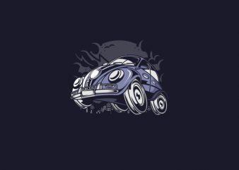 Classic Beetle Vector t-shirt design buy t shirt design