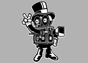 Classic Cameraman Vector t-shirt design buy t shirt design