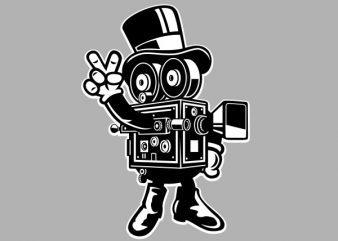 Classic Cameraman Vector t-shirt design