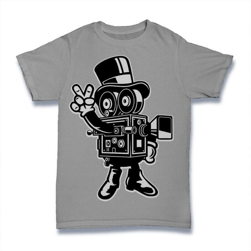Classic Cameraman Vector t-shirt design buy t shirt design