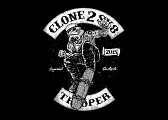 Clone 2 Sk8 Vector t-shirt design buy t shirt design