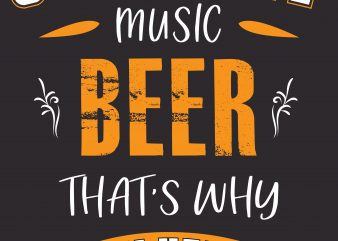 Country Music Beer t shirt vector file
