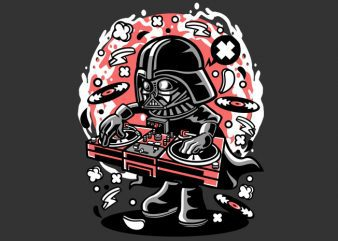 DJ Vader t shirt vector illustration