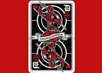 Deadpool Card Graphic t-shirt design buy t shirt design