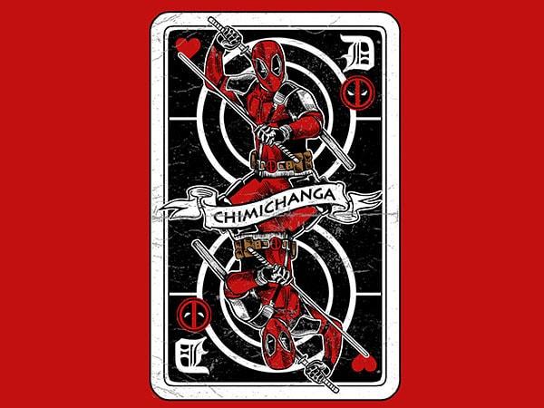 Deadpool Card Graphic t-shirt design