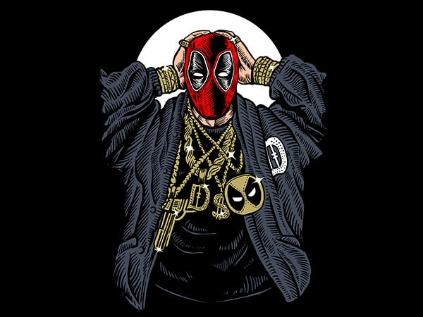 Deadpool Gangsta Vector t-shirt design