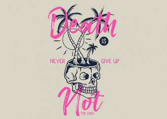 Death Is Not The End Vector t-shirt design buy t shirt design