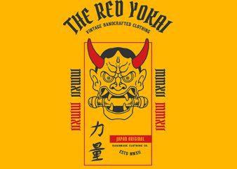 Demon Scroll Graphic t-shirt design buy t shirt design