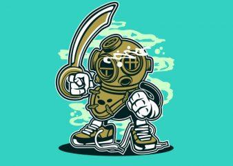 Diver Graphic t-shirt design buy t shirt design
