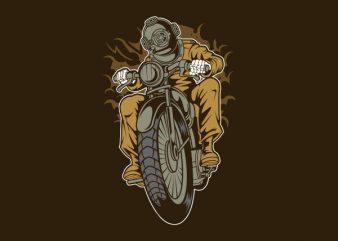 Diver Motorcycle tshirt design buy t shirt design