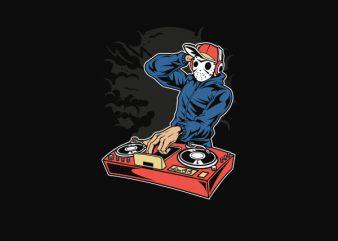 Dj Killer Vector t-shirt design