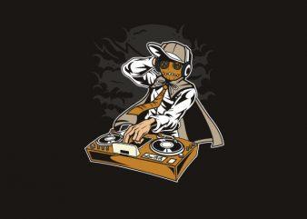Dj Puppet Vector t-shirt design buy t shirt design