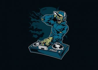 Dj Zombie Vector t-shirt design buy t shirt design