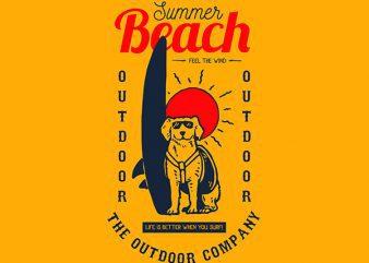 Dog Surf Vector t-shirt design buy t shirt design
