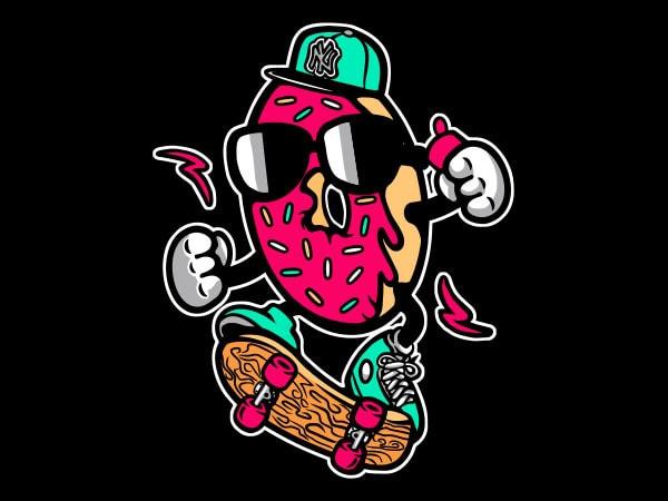Donut Skater Graphic t-shirt design buy t shirt design