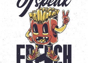 I speak french. Vector T-Shirt Design buy t shirt design