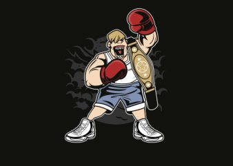 Fat Boxer Graphic t-shirt design buy t shirt design