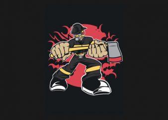 Fireman Graphic t-shirt design buy t shirt design