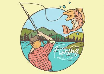 Fishing Vector t-shirt design buy t shirt design
