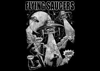 Flying Saucers Vector t-shirt design buy t shirt design