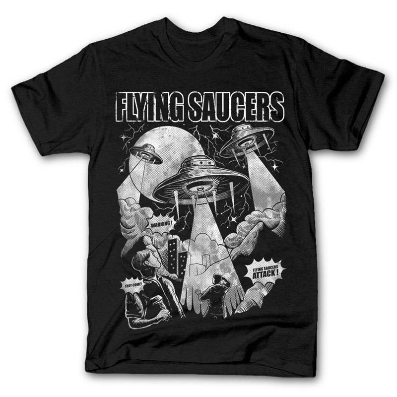 Flying Saucers Vector t-shirt design buy t shirt design